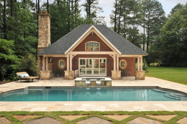 Attractive Pool House Design