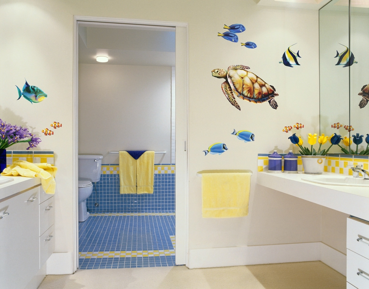 Colorful Bathroom Wall Art