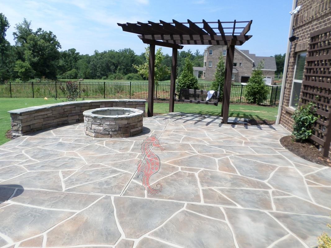 Concrete Patio Picture