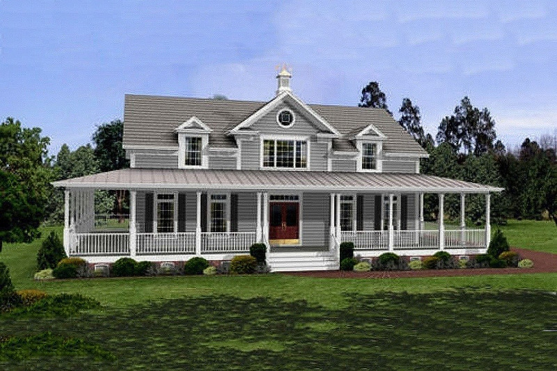 House Plan with porch Layout