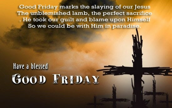 Images of Good Friday saying