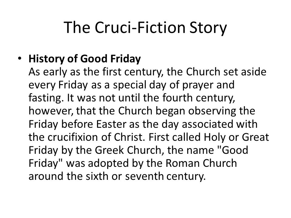 Images of Story of Good Friday