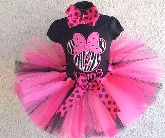 Minnie Mouse Birthday Dress Layout