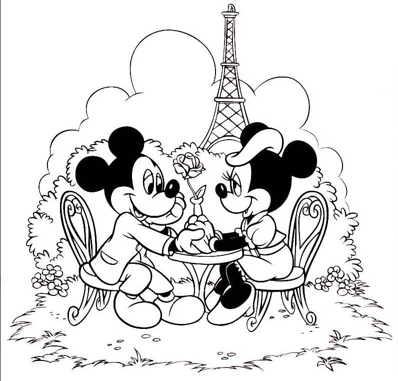 Minnie Mouse Coloring Image