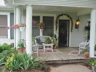 Modern Front Porch Decorating Idea