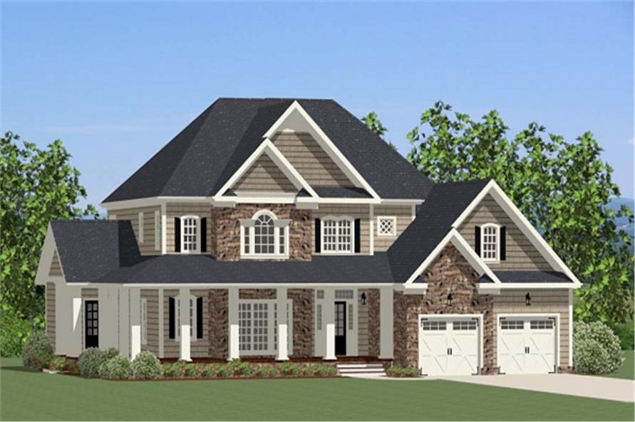 Modern House Plan with porch