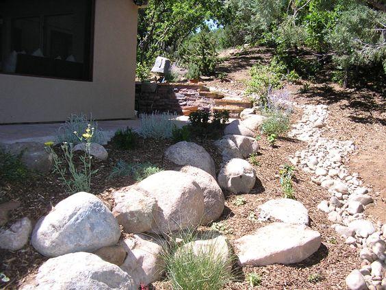 Modern River Rock Landscaping