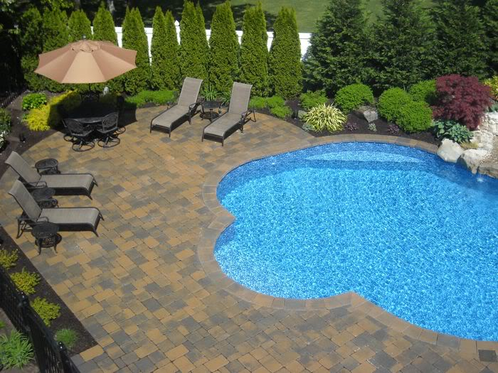 Pool landscaping Unique Idea
