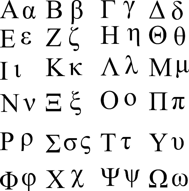 Greek Alphabet Letters And Symbols
