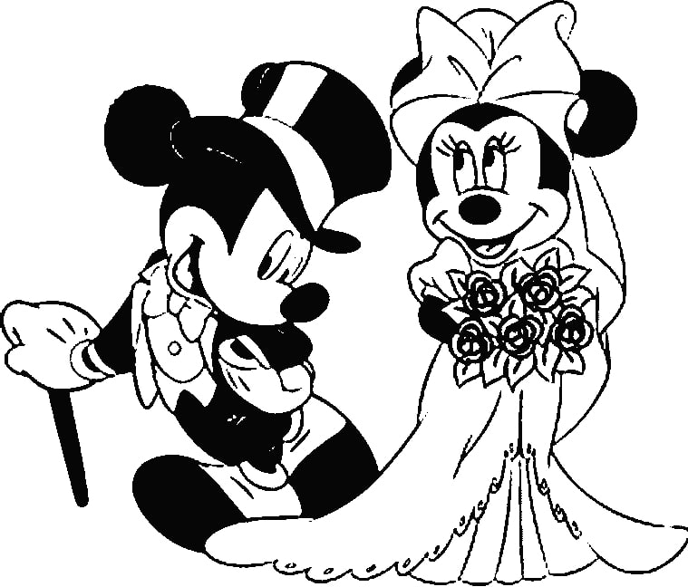 Print Mickey Mouse Coloring Page