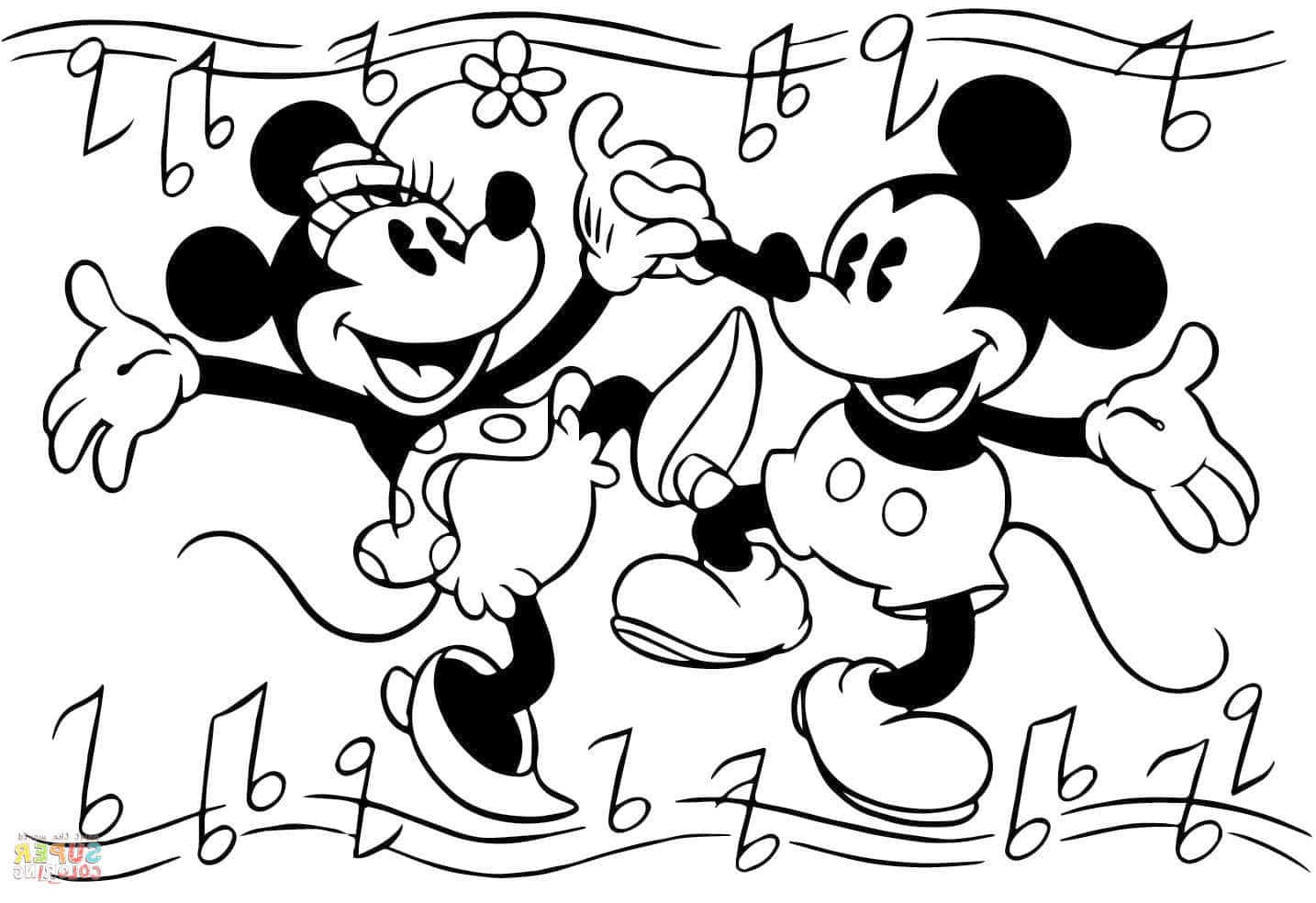Save Mickey Mouse Coloring Page Picture