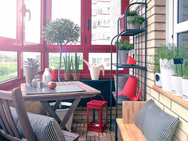 Simple Balcony Furniture Idea