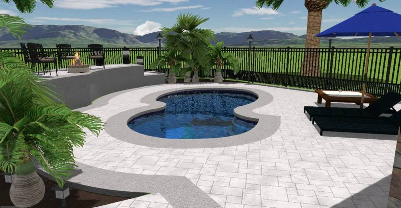 Small Backyard Pool Design