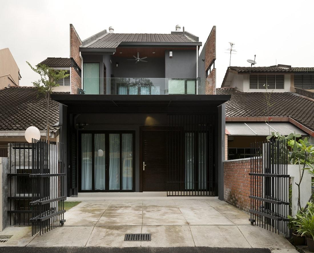 Terrace House Design Wallpaper