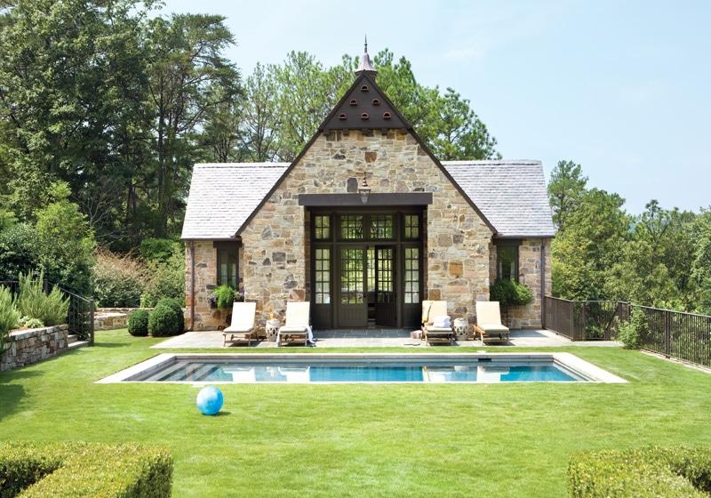Unique Pool House Design